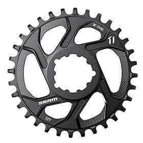 Sram X-Sync 34t 11sp Direct Mount 3mm Boost Chainring For Single Speed Aluminum Black-Chainrings-SRAM-Voltaire Cycles of Verona