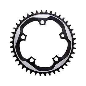 Sram X-Sync 48t 110mm Chainring Teeth: 48 Speed: 11 Bcd: 110 Bolts: 5 Single Aluminum Black-Chainrings-SRAM-Voltaire Cycles of Verona