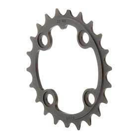 Truvativ 22t 8-9-10sp Bcd 64mm 4-Bolt Inner Chainring For Mtb Triple Aluminum Black 116215089000-Chainrings-Truvativ-Voltaire Cycles of Verona