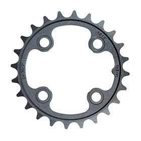 Truvativ 26t 9 Sp Bcd 64mm 4-Bolt Inner Chainring For Mtb Triple Aluminum Black 116215092000-Chainrings-Truvativ-Voltaire Cycles of Verona