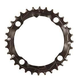 Truvativ 32t 9 Sp Bcd 104mm 4-Bolt Middle Chainring For Mtb Triple Aluminum Black 116215088000-Chainrings-Truvativ-Voltaire Cycles of Verona