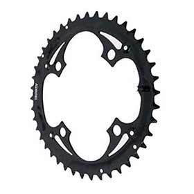 Truvativ 42t 9 Sp Bcd 104mm 4-Bolt Outer Chainring For Mtb Triple Steel Black 116215016000-Chainrings-Truvativ-Voltaire Cycles of Verona