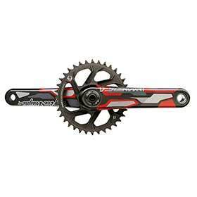 Truvativ Descendant Colab Dh Dub Crankset Spindle: 2899mm 36 Dub 165mm Red Dh-Cranksets-Truvativ-Voltaire Cycles of Verona