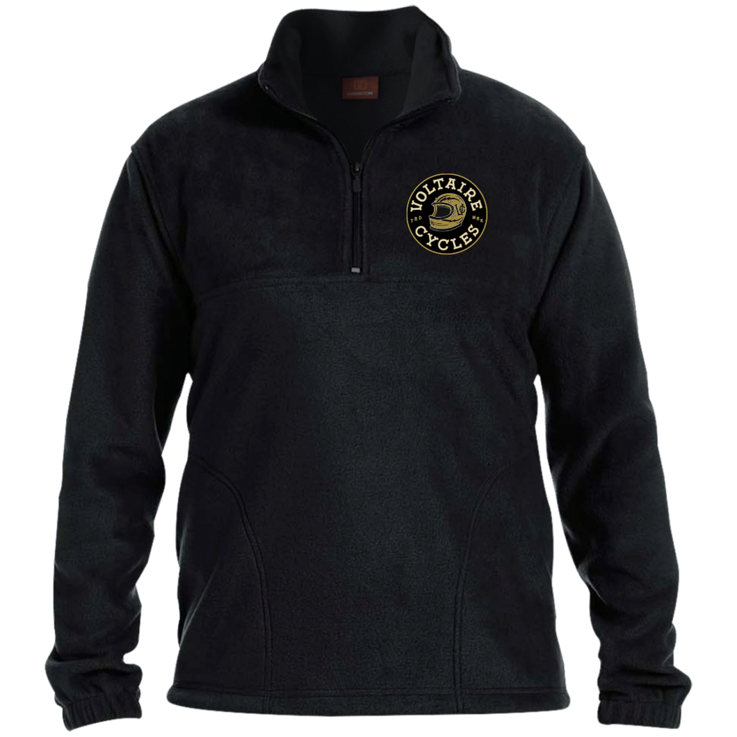 Voltaire Cycles 1/4 Zip Fleece Pull-Over-Apparel-CustomCat-Voltaire Cycles of Verona