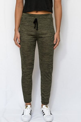 Printed Lounge Joggers With Elastic Tie Waist