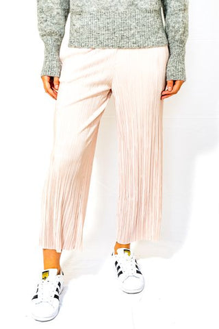 Amy Cropped Crinkle Palazzo Trousers