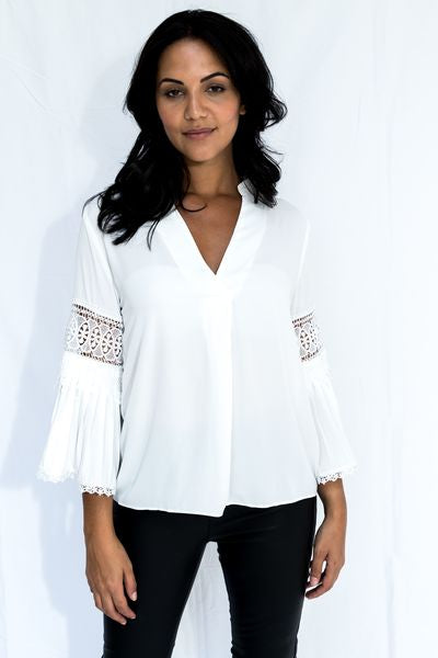 Fay Lace Insert Blouse