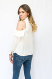 Alexis Cold Shoulder Ruffle Blouse