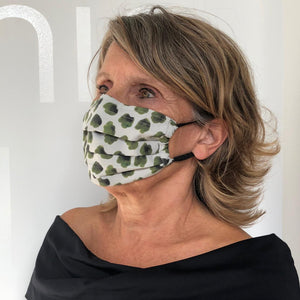 Coco reusable mask leopard green