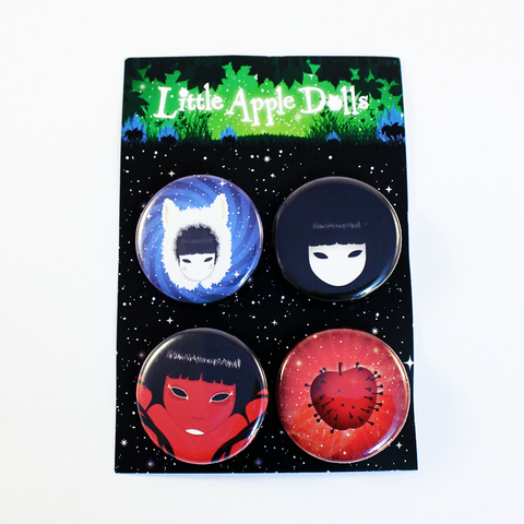 Little Apple Dolls 32 mm Pin Badge Set