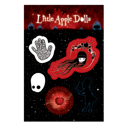 Little Apple Dolls A5 Sticker Sheet
