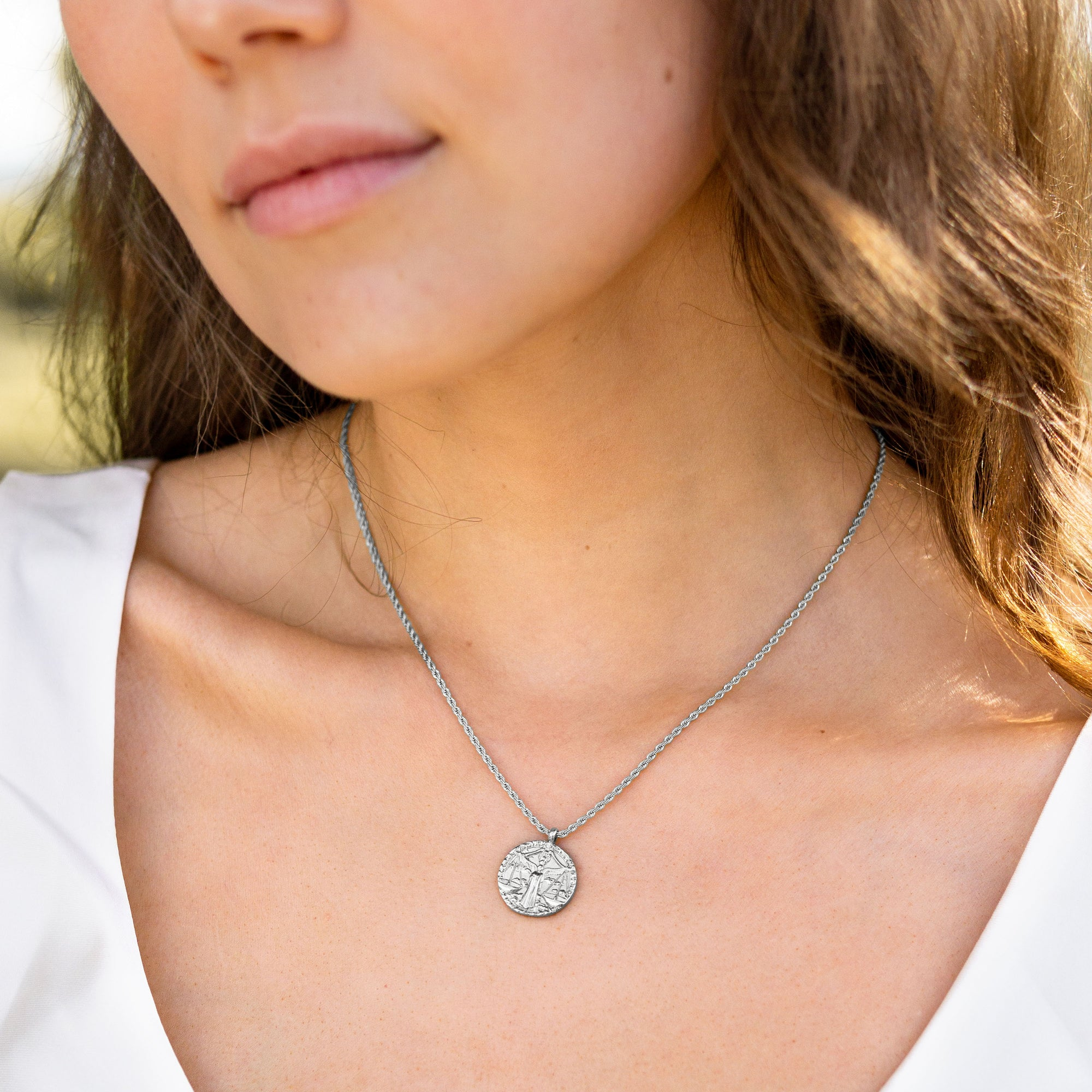 Libra / Waage Necklace Silber