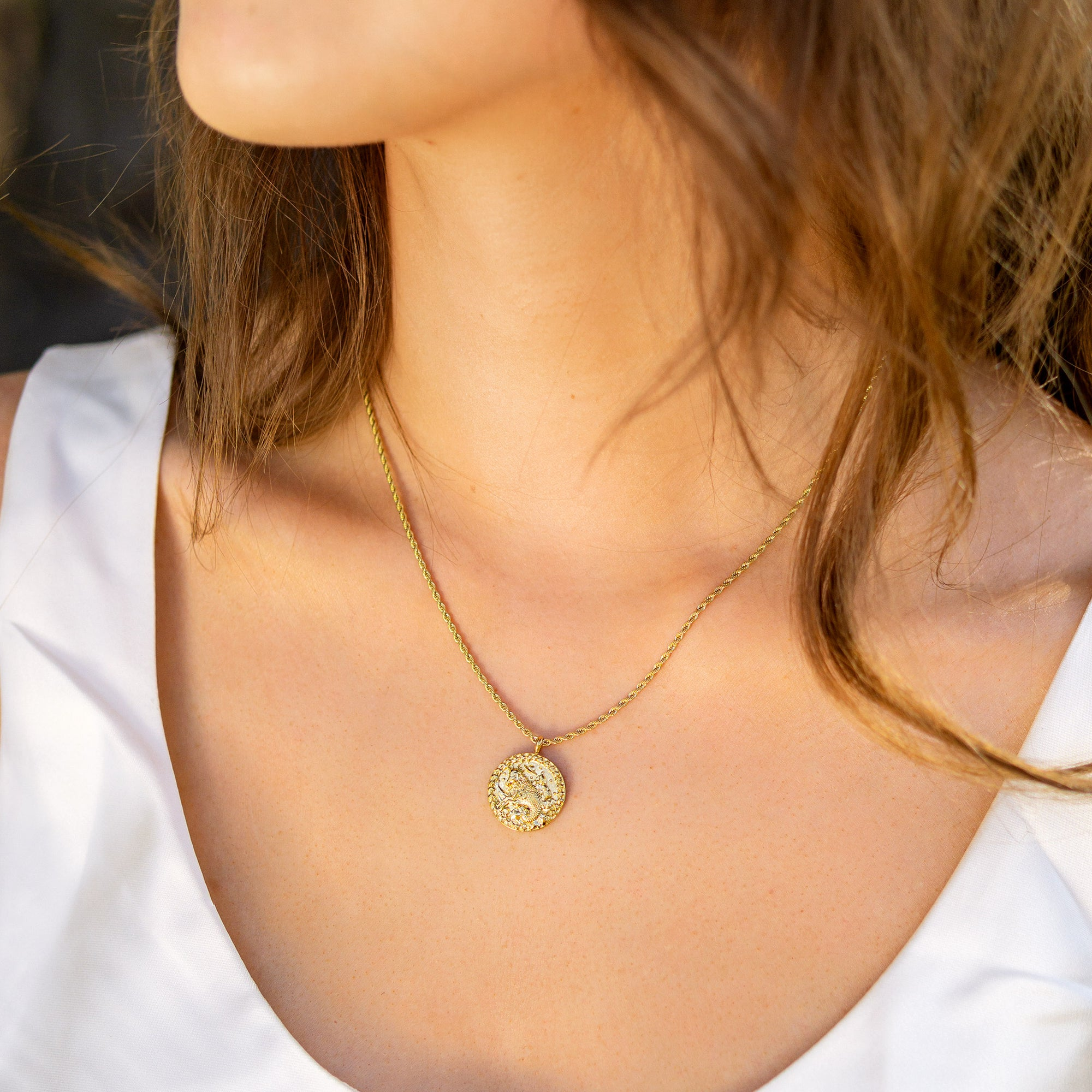 Capricorn / Steinbock Necklace Gold