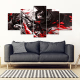 FREE SHIPPING - Attack On Titan 5 Piece Framed Canvas Ver.02
