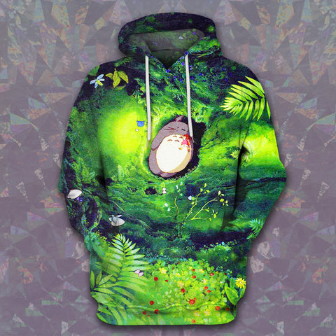 LMS-0035 All Over Print Hoodie - Totoro