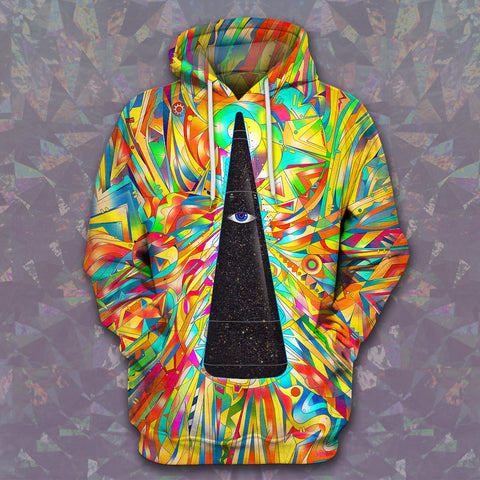 LMS-0060 All Over Print Hoodie - Hippie Style