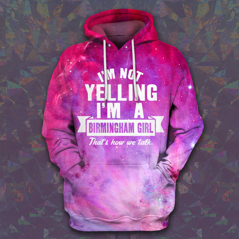 LMS-0142 All Over Print Hoodie - Birmingham Girl