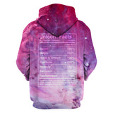 LMS-0194 All Over Print Hoodie - Unicorn Nutrition Facts