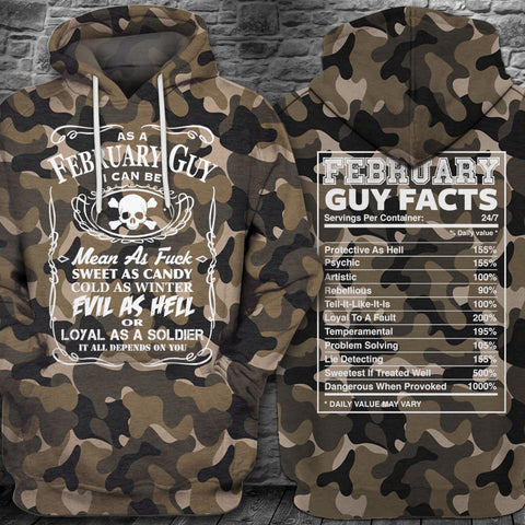LMS-0196 All Over Print Hoodie - February Guy