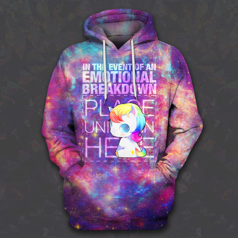 LMS-0205 All Over Print Hoodie - PLACE UNICORN HERE