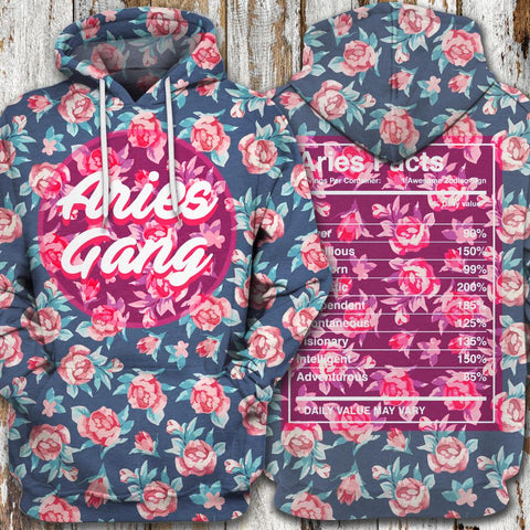 LMS-0221 All Over Print Hoodie - Aries Gang - AnimeShopStore