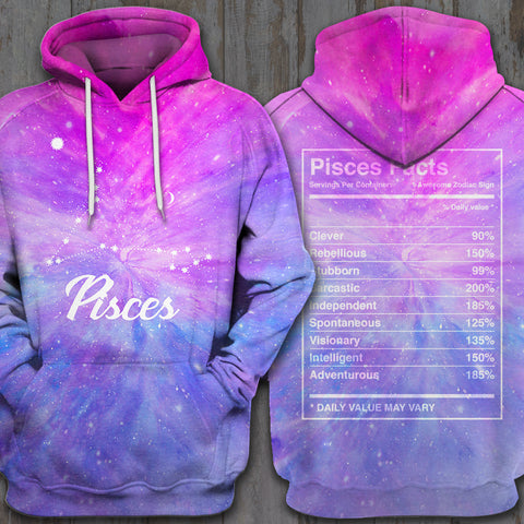 LMS-0233 All Over Print Hoodie - Pisces2 GALAXY