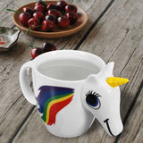 Original 3D Unicorn Color Changing Ceramic Coffee Tea Mug - Multi Colour Cup Gift