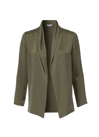 Mira Stone Washed Khaki Silk Jacket