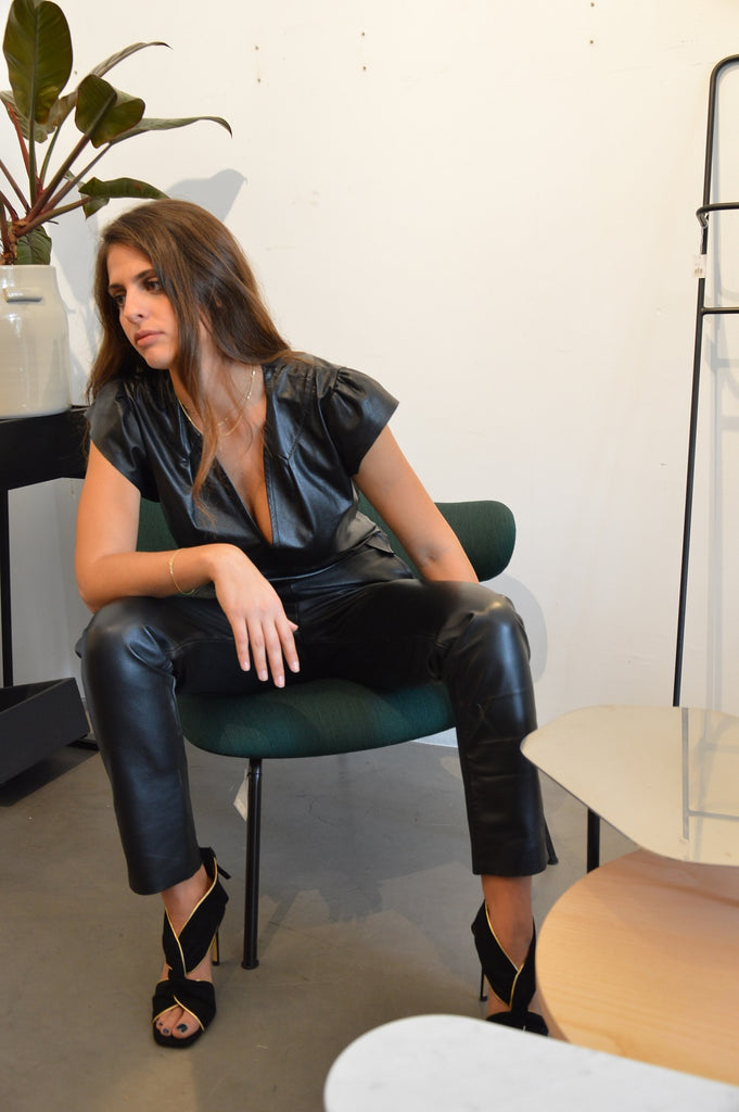 Farfale Leather Top