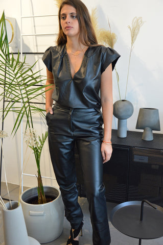 Leather Trouser- Straight Leg Leather Pants