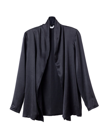 Stone Washed Black Silk Jacket