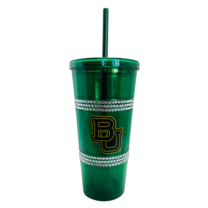 22 oz Baylor Bears Double Bling Straw Tumbler by Boelter