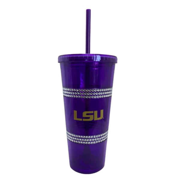 22 oz LSU Double Bling Straw Tumbler by Boelter Brands - LSU