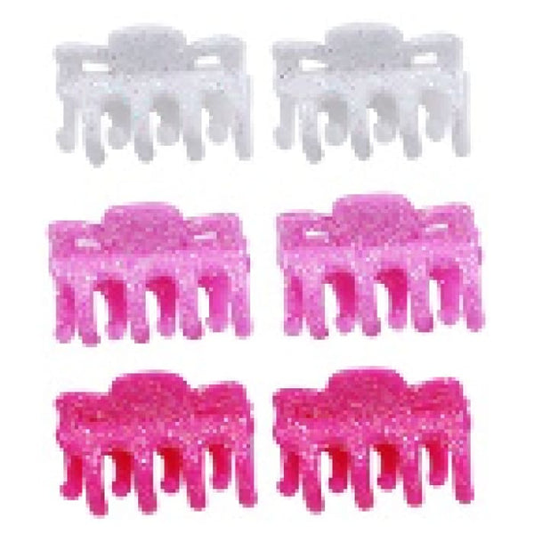 6 pc Glitter Claw Clip Set by Pink Poppy®