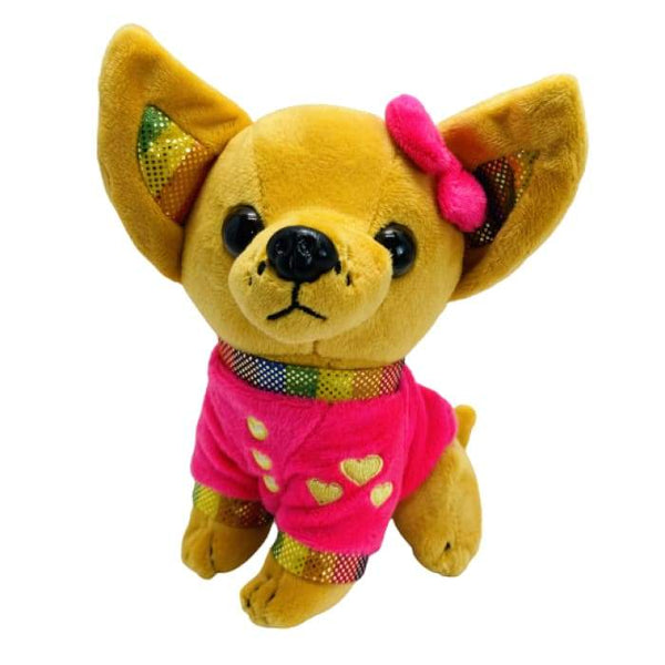 7 Chihuahua Plush Dog - Pink