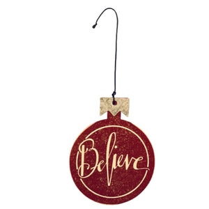 Believe Ornament by Primitives by Kathy®