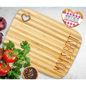 Best Mom Bamboo Cutting Board