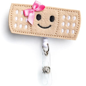 Bow Bandage Nurse Badge Reel Holder