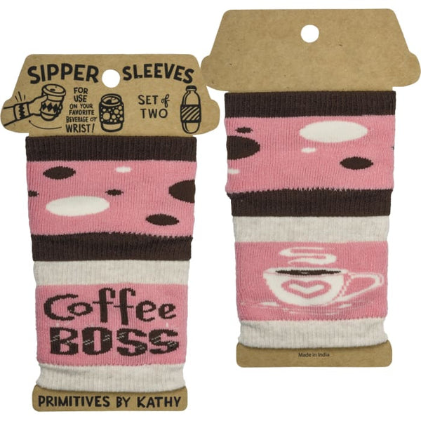Coffee Boss Sipper Sleeves by Primitives by Kathy®