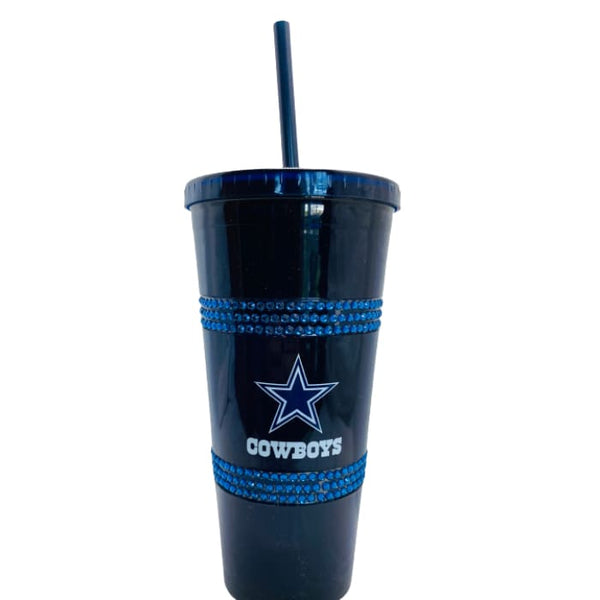 Dallas Cowboys Double Bling Straw Tumbler by Boelter Brands