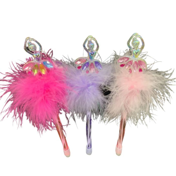 Fluffy Glitter Ballerina Pen by Pink Poppy®