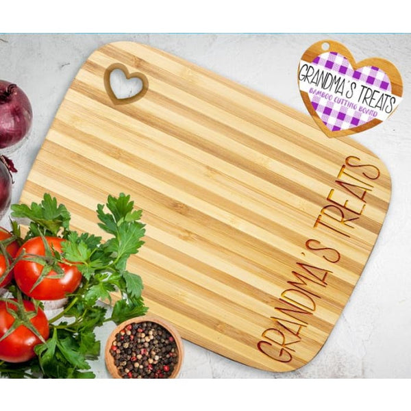 Grandma 's Treats Bamboo Cutting Board
