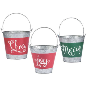 Holiday Handicraft Nesting Buckets