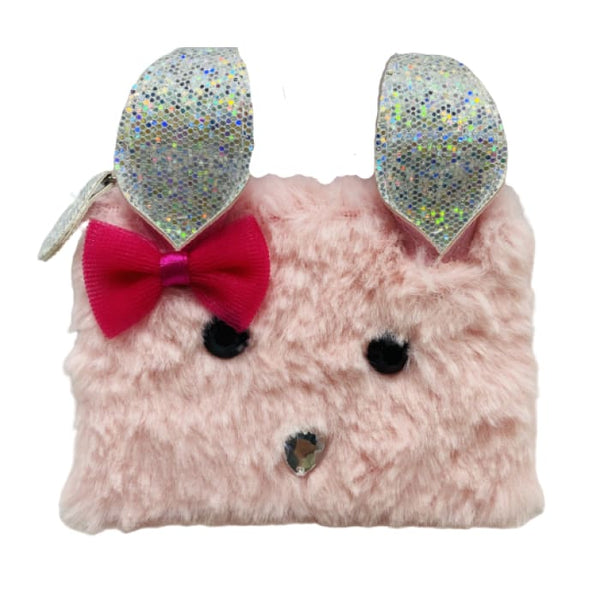 In the Woods Bunny Coin Purse (Pink) by Pink Poppy®