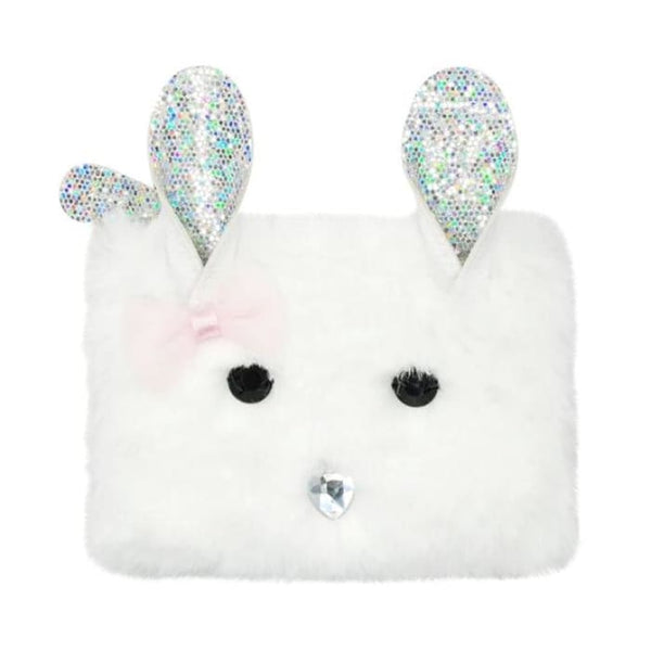 In the Woods Bunny Coin Purse (White) by Pink Poppy®
