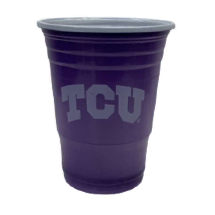 Licensed Sports Plastic Cups TCU