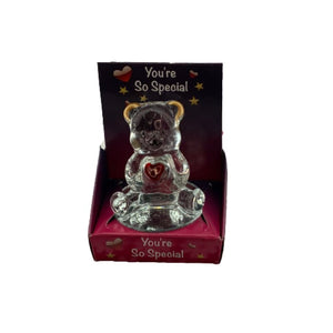 Love Bear Glass Figurine - Sale