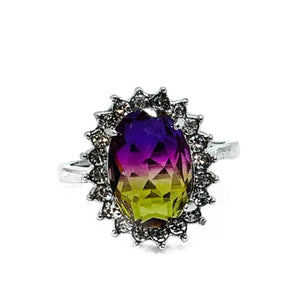 Ombre Ring - C - purple-yellow / 7