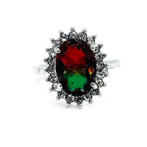 Ombre Ring - D - red-green / 7