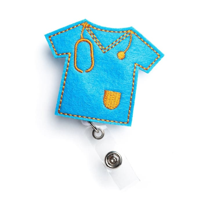 Scrub Top Nurse Badge Reel Holder